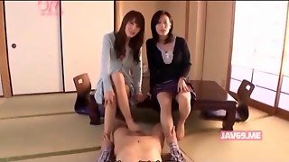 Two Asian Femdoms Dominate With Their Feet