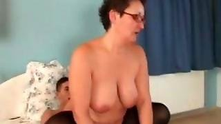 Horny Mature Giving Bj To Teen Dude