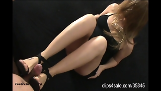 New High Heels! Bondage Footjob!