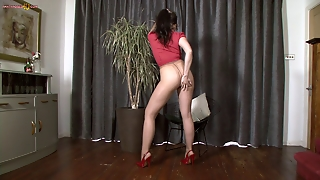 Pantyhose Brit Walks And Talks