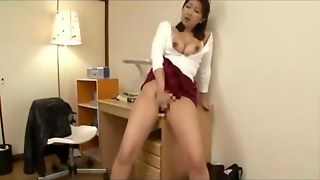 Busty Japanese Milf With Nice Tits Fingers Herself