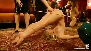 Babes Gets Caned And Strapped In The Upper Floor