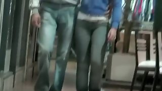 Tight Jeans On Tight Round Asses Candid