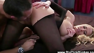 Blonde Pornstar Takes Cock Anally And Really Loves It