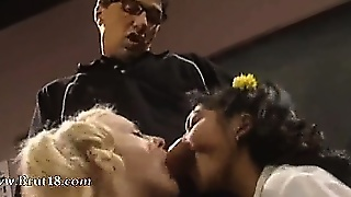 Threesome With Brutal Asian Lezzies