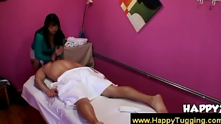 Bigbreasted Asian Masseuse Excites Guy