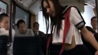 Publicsex Asian Gangbanged On The Bus