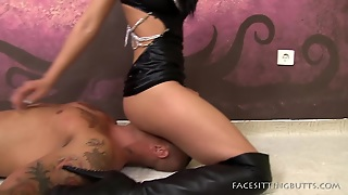 Black Boots Princess Sitting On Face
