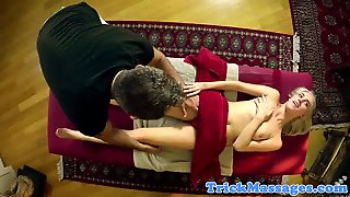 Hairy Teen Fucked In Missionary By Masseur