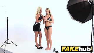 Female Agent Horny Agent Cums On Beautiful Blonde