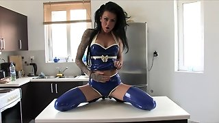 Stacey Lacey Strips In Latex