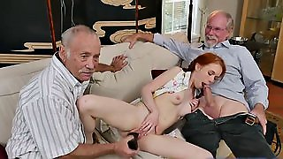 Slutty Redhead Bangs Small Dolly By Old