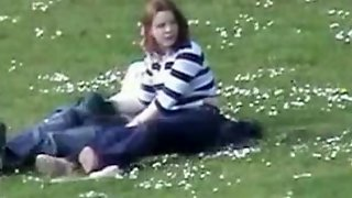 Voyeur Captures Handjob In The Park