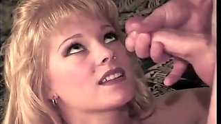 Vintage Fuck And Facial Spray With A Blonde Cutie