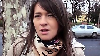Amateur Eurobabe Anastasia Stuffed In Public For Money