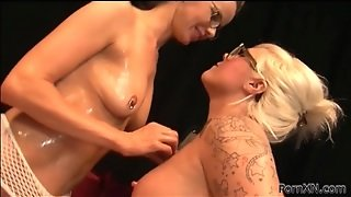 Lesbians In Glasses Fist Cunt In Lusty Video