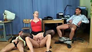 Anal Gang Bang In The Office