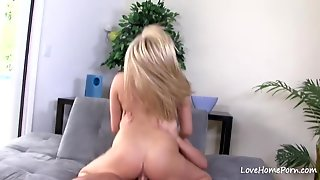 Bombshell Takes Off Her Clothes Sensually And Rides