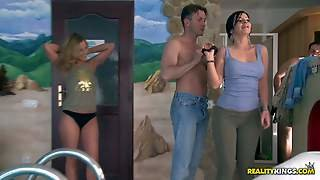 Choky Ice,debbie White,james Brossman And Tiana Are Two Lustful Couples