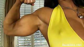 Aziani Iron Angela Salvagno Huge Clit Female Bodybuilder