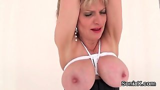 Unfaithful British Milf Lady Sonia Pops Out Her Enormous Kno