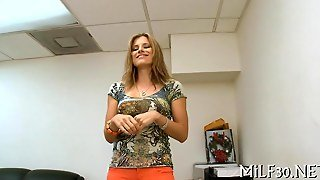 Blonde Sucks A Cock In An Office