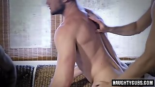 Big Cock, Gay, Group Sex, Creampie, Muscled