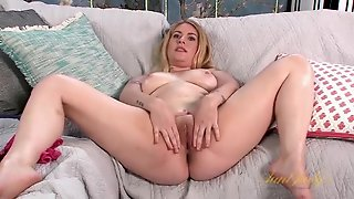 Real Juices Of Desire Drip From Her Milf Pussy
