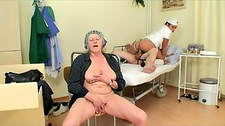 Sexy Nurse In Love With Grandpa