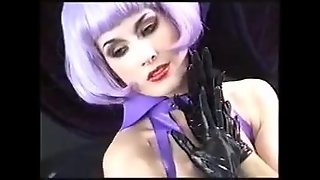 Babes, Small Tits, Latex, Purple