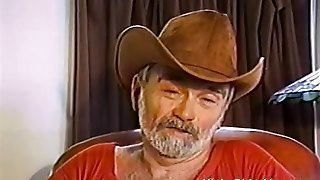 Old Cowboy Beats His Hairy Cock