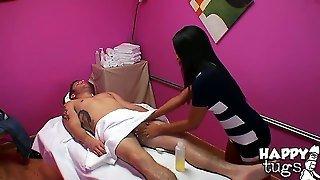When A Dude Wants To Relax, This Is What He Needs To Do. Asian Girl Alexa Bay Is Gonna Use Her Hands And Make His Dick Totally Hard Like Never Before. It Is A Must See.