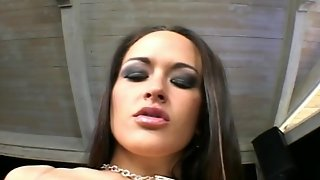 Brunette, Natural Tits, Cum On Tits, Cowgirl, Tit Fucking, Cock Sucking, Slim, Trimmed Pussy, Missionary, Anal