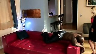 Nubile Blonde Gets Nailed By An Ebony Stud's Gigantic Soldier