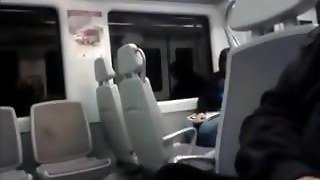 Guy Jerking Off In Public On The Train