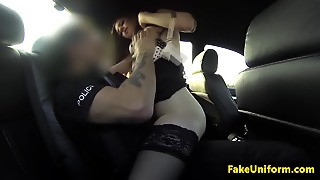 British Babe Deepthroating Officers Dick