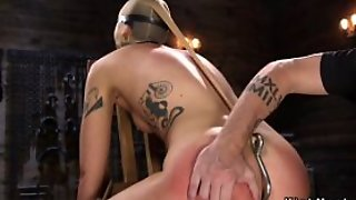Slave Spanked With Hook In The Ass