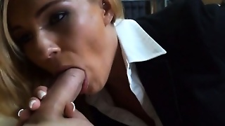 Blonde, Public, Blowjob, Milf, Reality