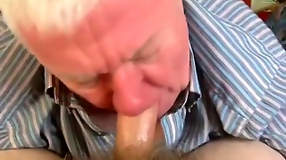 Hot Blow Job By Grandpa
