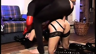 Fetish Couple For Latex Has Wild Sex While He Wears His Mask And She Swallows