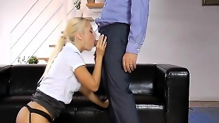 British Teen Blonde Fucks