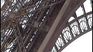 Eiffel Tower Risky Public Threesome Sex. Awesome!