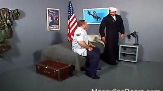 Two Stout Officers Brutal Bully Fuck