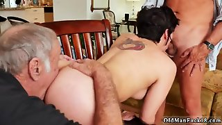 Very Old Man Teen More 200 Years Of Dick For This Sexy Brunette!