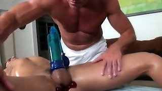 Straight Guy Butt Plug And Penis Pump Masseuse