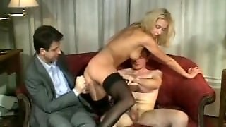 Amateur Girlfriend Anal Threesome With Facials