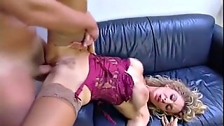 Gorgeous Blonde Hot Classy Mom Enjoys Going Naughty With Her Strong Handsome Son-In-Law!