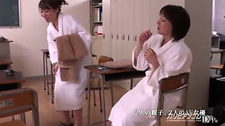 Not Mother And Not Daughter Competes Cock Sucking