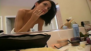 Reality Solo Video With Skinny Brunette Chick Sophie