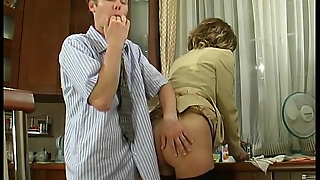In The Kitchen Fucked The In Ass Wife